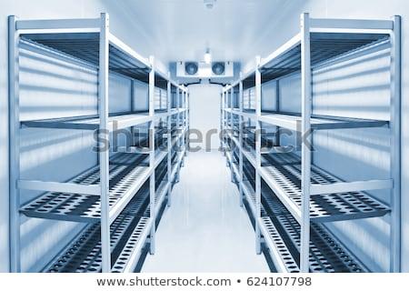 Tároló nyitva dobozok nézőpont kilátás kék Stock fotó © albund