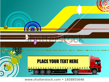 Abstract hi-tech background with lorry image. Vector illustratio Stock photo © leonido