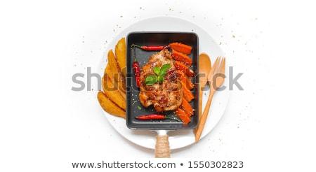 Chicken in pan Stock photo © phila54