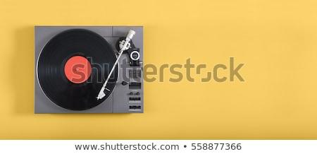 Lemezjátszó klasszikus közelkép gramofon fekete lemezjátszó Stock fotó © Tomjac1980