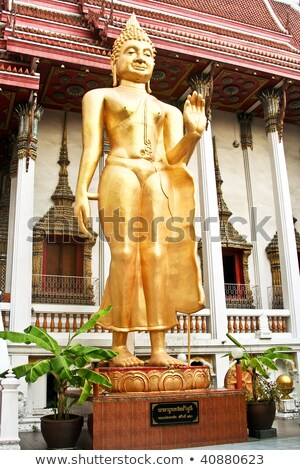Buda · yüz · altın · Tayland · Asya · Bina - stok fotoğraf © meinzahn