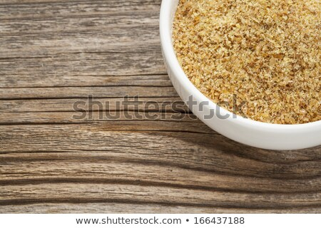 golden flaxseed meal Stock photo © PixelsAway