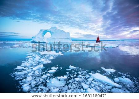 Icy arctic landscape Stock photo © marekusz