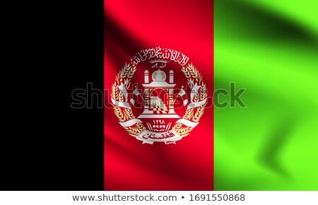 Bayrak Afganistan bilgisayar oluşturulan örnek yeşil Stok fotoğraf © fresh_7266481