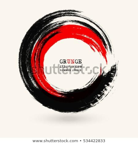 grunge red splash circle stock photo © burakowski