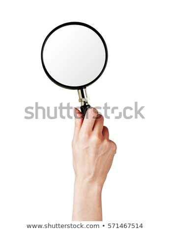 woman hand holding magnifying glass Stock photo © dolgachov