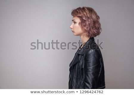Profile portrait of attractive blonde lady. Stock photo © NeonShot