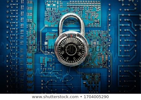 Laptop Computer - Safe Dial for Security Stock photo © iqoncept