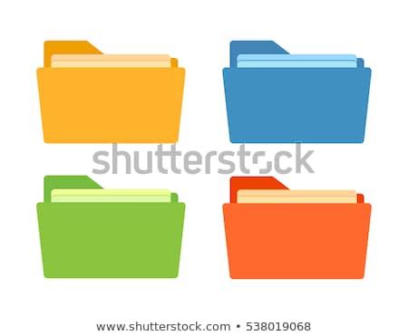 Data Storage on Yellow in Flat Design. Stock photo © tashatuvango