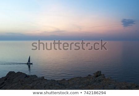 красный рок Корсика Маяк регион природы Сток-фото © Joningall