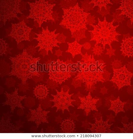 Deep red christmas texture pattern. EPS 10 Stock photo © beholdereye