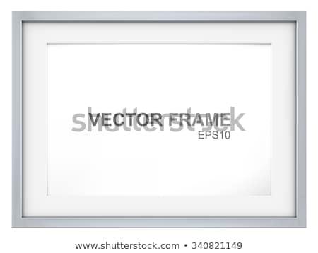 tér · fából · készült · üres · keret · izolált · fehér - stock fotó © taviphoto
