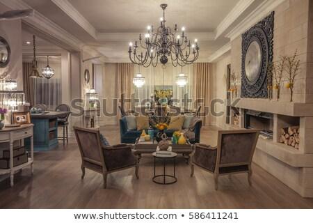 Chandelier in the classic interior Stock photo © Elnur