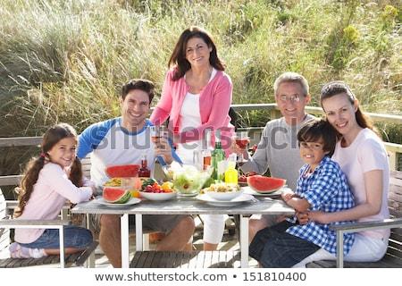 grootouders · kleinzoon · outdoor · barbecue · vrouw · vrouwen - stockfoto © monkey_business