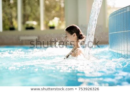 zwembad · waterval · woon- · hot · tub · zwembad - stockfoto © backyardproductions