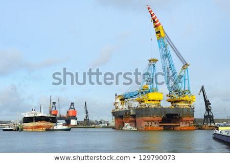 very big crane in rotterdam harbor Stock photo © compuinfoto