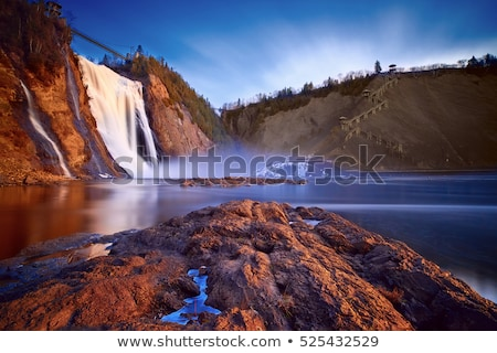 Quebec Canadá natureza cachoeira cair penhasco Foto stock © bmonteny