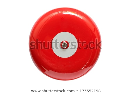 red fire alarm bell in the building stock photo © nalinratphi