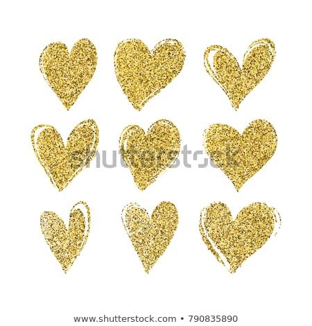 Glitter Heart stock photo © kimmit