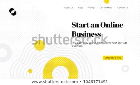 Sympathiek web design achtergrond digitale tablet mobiele Stockfoto © stevanovicigor