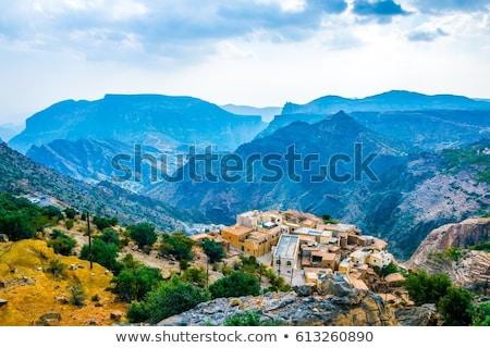 Omán meseta imagen paisaje terraza carretera Foto stock © w20er
