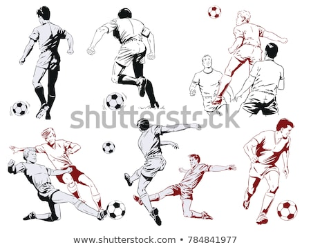 Soccer player poster. Football player. Vector illustration Stock photo © leonido