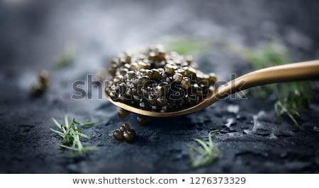 fekete · kaviár · bambusz · hal · háttér · vacsora - stock fotó © m-studio