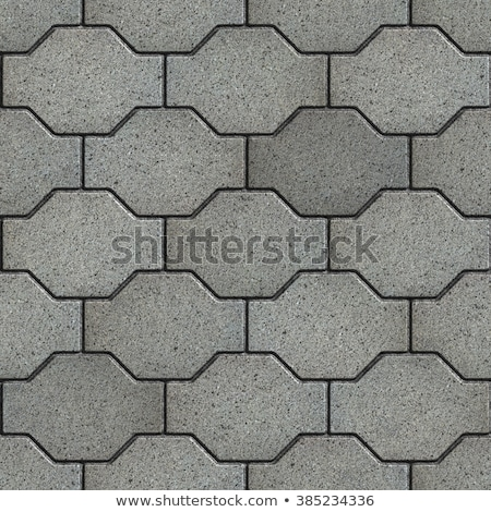 Gray Wavy Paving Slabs. Stock photo © tashatuvango