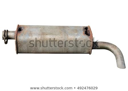 Roest uitputten pijpen naast straat industrie Stockfoto © hin255