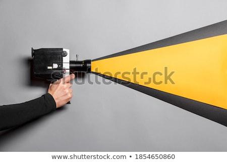 videocamera · mano · televisione · microfono - foto d'archivio © tony4urban