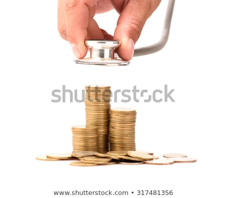 Monet ceny stetoskop działalności papieru Zdjęcia stock © rufous