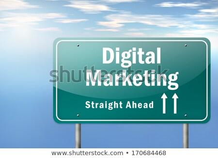 цифровой маркетинга шоссе указатель дороги технологий Сток-фото © tashatuvango