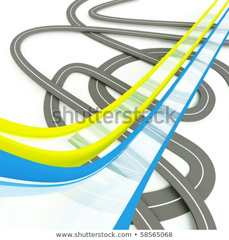 Stok fotoğraf: Road Tape On White As An Urbanistic Background