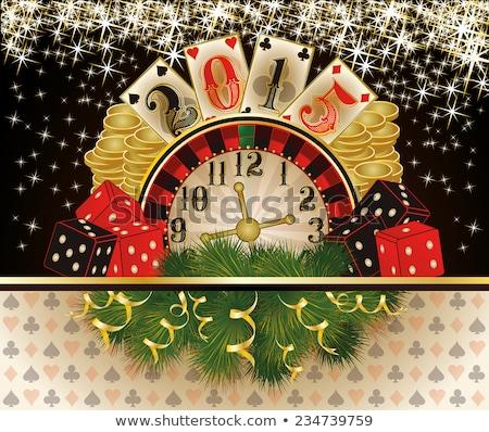 Happy new 2015 year poker chip, vector  Stock photo © carodi