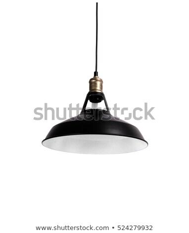 Handgemaakt lamp licht opknoping plafond voorraad Stockfoto © nalinratphi