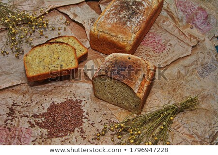 Home a loaf of rye bread with seeds and poppy seeds Stock photo © pixelman