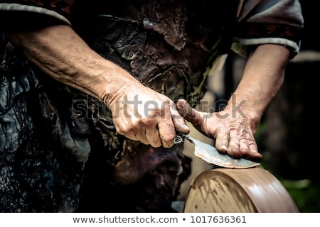 ナイフ ぬれた グラインダー ブレード 砂岩 ストックフォト © stefanoventuri