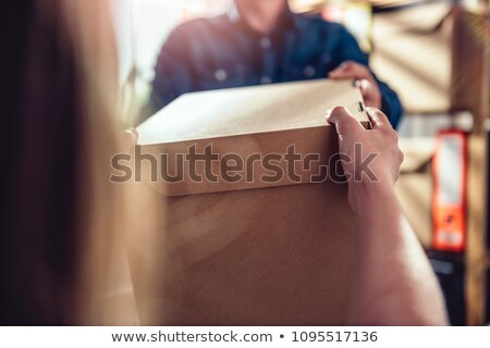 Two open box in the archive Stock photo © Valeriy
