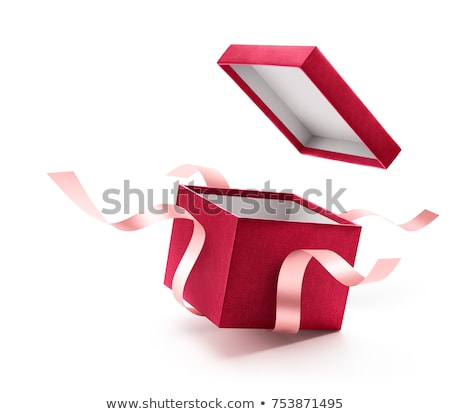 Rouge coffret cadeau blanche ruban boîte Photo stock © tamasvargyasi