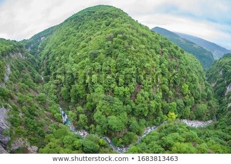自然 観光 滝 山 公園 崖 ストックフォト © Kor