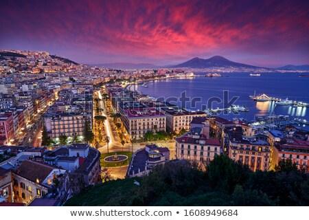 Napoli gün batımı görmek sahil ünlü yumurta Stok fotoğraf © sailorr