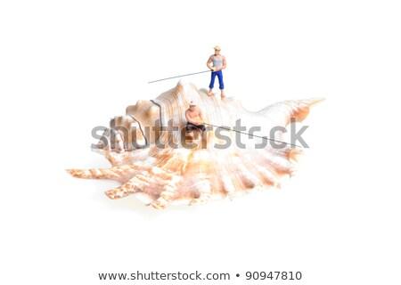 Сток-фото: миниатюрный · люди · сидят · оболочки · действий · различный