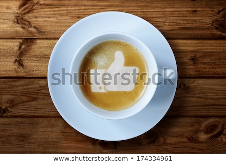 Café como símbolo diretamente acima tiro Foto stock © AndreyPopov