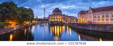 folyó · múzeum · sziget · katedrális · Berlin · éjszaka - stock fotó © andreykr