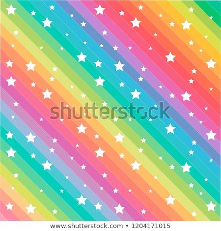 rainbow stars in blue Stock photo © marinini