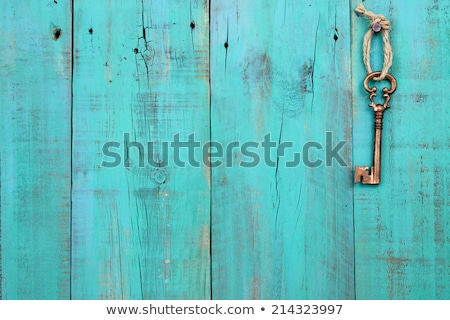 rachado · velho · verde · pintar · madeira · interessante - foto stock © h2o