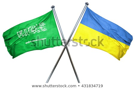 Saudi Arabia and Ukraine Flags  Stock photo © Istanbul2009