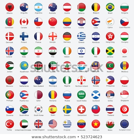 Egyesült Királyság Irán zászlók puzzle izolált fehér Stock fotó © Istanbul2009