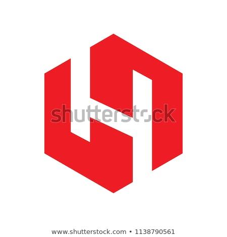 красный · письме · марка · логотип · шаблон - Сток-фото © blaskorizov