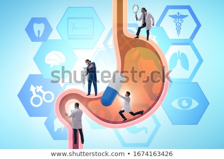 Diagnosis - Gastritis. Medical Concept. Stock photo © tashatuvango